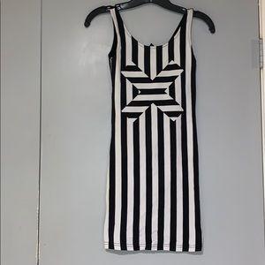 X Marks the Spot striped dress